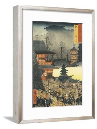 New Year's Eve Party in Asakusa, in the City of Edo, by Ando Hiroshige
