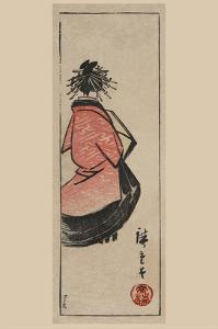 Oiran - High Class Courtesan (Ushiro Muki Oiran Zu) by Ando Hiroshige