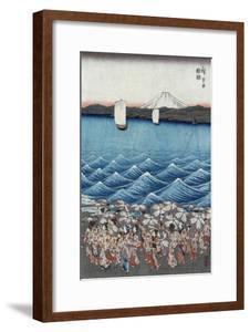 Opening Celebration of Benzaiten Shrine at Enoshima in Soshu by Ando Hiroshige
