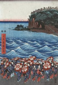 Opening Celebration of Benzaiten Shrine at Enoshima by Ando Hiroshige