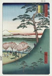Original Fuji, Meguro', from the Series 'One Hundred Views of Famous Places in Edo' by Ando Hiroshige