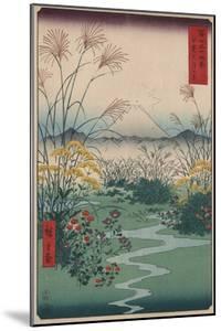 Otsuki Fields in Kai Province by Ando Hiroshige