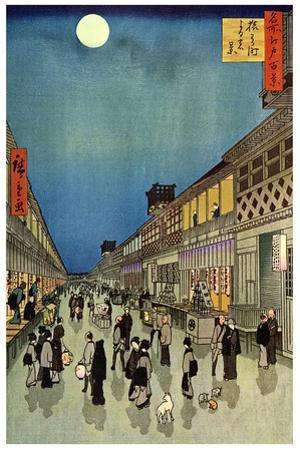 Saruwaka Cho, Yoru Shibai, 1856