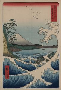 Sea at Satta in Suruga Province by Ando Hiroshige