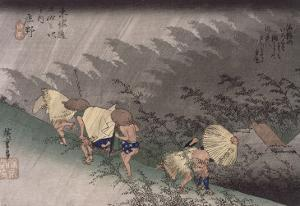 Shôno, pluie d'orage by Ando Hiroshige