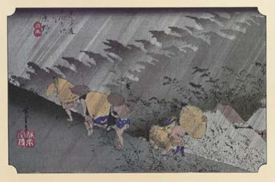 Sudden Shower at Shono by Ando Hiroshige