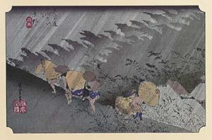 Sudden Shower at Shono by Ando Hiroshige