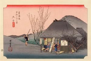 The 53 Stations of the Tokaido, Station 20: Mariko-juku, Shizuoka Prefecture by Ando Hiroshige