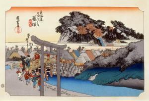 The 53 Stations of the Tokaido, Station 6: Fujisawa-shuku, Kanagawa Prefecture by Ando Hiroshige