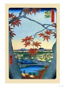 The Maple Trees by Ando Hiroshige