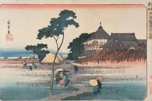 The Spiral Hall of the Temple of the Five Hundred Arhats, from the Series 'Famous Places in Edo',… by Ando Hiroshige