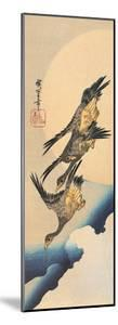 Three Wild Geese Flying Across the Moon by Ando Hiroshige