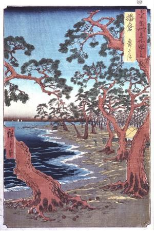 Trees Beside a Lake, 19th Century by Ando Hiroshige