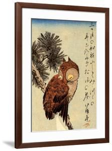 Utagawa Hiroshige Small Brown Owl on a Pine Branch by Ando Hiroshige