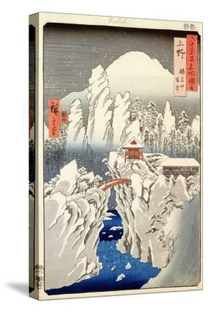 "View of Mount Haruna in the Snow, from ""Famous Views of the 60 Odd Provinces"""