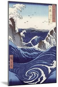 View of the Naruto Whirlpools at Awa, from the Series Rokuju-Yoshu Meisho Zue by Ando Hiroshige