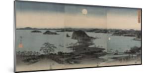 Vue des huit sites célèbres de Kanazawa le soir. Lune by Ando Hiroshige