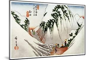 Wada, the Head of the Pass, in Snow, 1830S by Ando Hiroshige