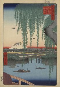 Yatsumi no Hashi (Yatsumi Bridge), 1856 by Ando Hiroshige