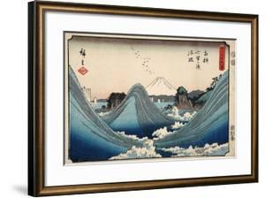 Rough Seas at Shichiri Beach, Sagami Province from Series Thirty Six Views of Mount Fuji, c.1851-2 by Ando or Utagawa Hiroshige