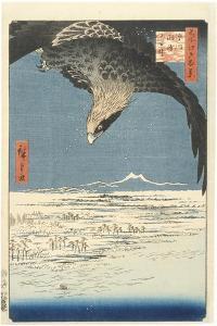 Susaki and the J?mantsubo Plain near Fukagawa from the Series One Hundred Famous Views of Edo, 1857 by Ando or Utagawa Hiroshige