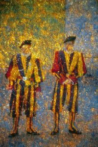 Vatican's Guards by Andre Burian by Andr? Burian