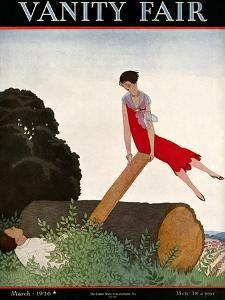 Vanity Fair Cover - March 1926 by Andr? E. Marty