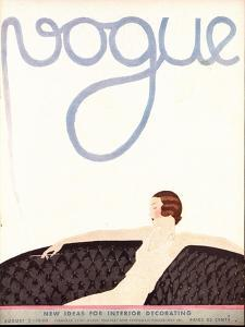 Vogue Cover - August 1930 by Andr? E. Marty