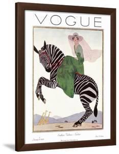 Vogue Cover - January 1926 - Zebra Safari by Andr? E. Marty