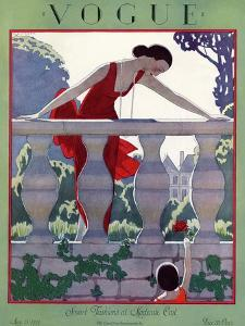 Vogue Cover - May 1924 by Andr? E. Marty
