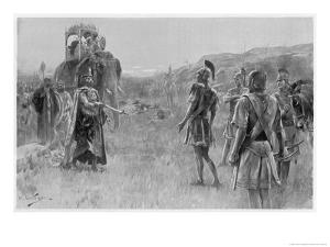 Alexander Accepts the Surrender of Porus King of the Pauravas by Andre Castaigne