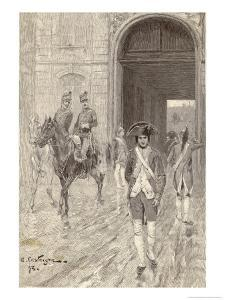 Napoleon in 1784 as a Cadet at the Military School at Paris by Andre Castaigne