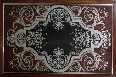 Decoration on Inside of Ebony Cabinet Door