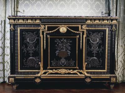 Ebony Commode with Metal Inlays