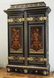 Louis XIV Style Inlaid Ebony Wardrobe by Andre-charles Boulle
