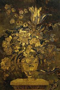 Marquetry Inlay on Ebony Cabinet Door by Andre-charles Boulle
