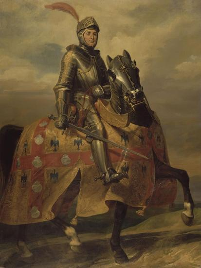 André de Montfort de Laval, seigneur de Loheac, amiral en 1437, Maréchal de France en 1439-Eloi Firmin Feron-Giclee Print