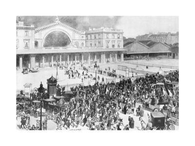 The Gare De L'Est Railway Station During the Period of Mobilization, Paris, France, 1914