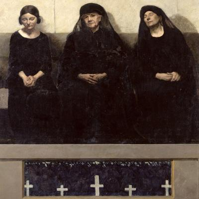 Three Women Grieving for a Lost One, Central Panel of the Triptych 'Remembering the Dead', C.1918