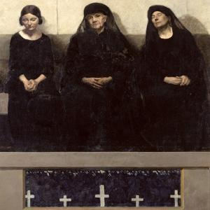 Three Women Grieving for a Lost One, Central Panel of the Triptych 'Remembering the Dead', C.1918 by Andre Devambez