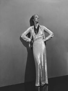 Vogue - December 1936 - Sequin Chanel Dress by André Durst