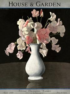 House & Garden Cover - April 1930 by André E. Marty