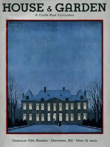 House & Garden Cover - December 1931 by André E. Marty