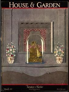 House & Garden Cover - February 1927 by André E. Marty