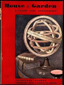 House & Garden Cover - February 1931 by André E. Marty