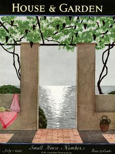 House & Garden Cover - July 1930 by André E. Marty