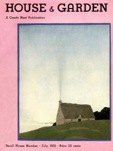House & Garden Cover - July 1931 by André E. Marty