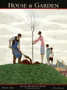 House & Garden Cover - March 1929 by André E. Marty