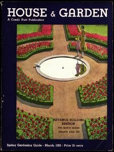 House & Garden Cover - March 1932 by André E. Marty