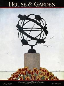 House & Garden Cover - May 1927 by André E. Marty
